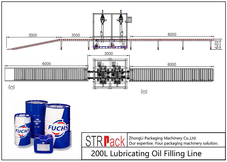 Автоматска линија за полнење нафта за подмачкување 200L