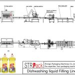 Автоматска линија за полнење течност за миење садови