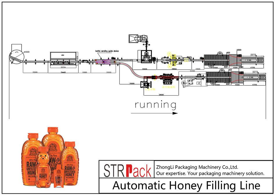 Автоматска линија за полнење мед