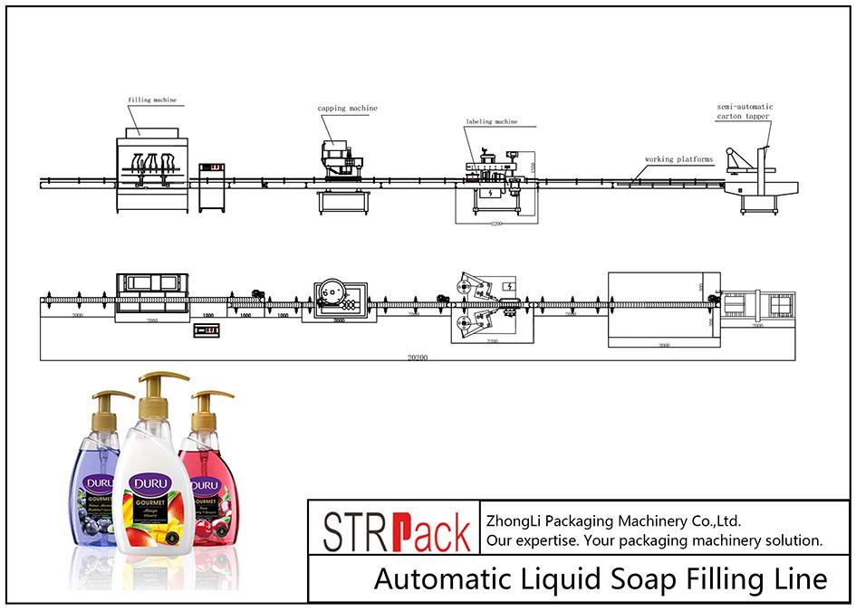 Автоматска линија за полнење на течен сапун