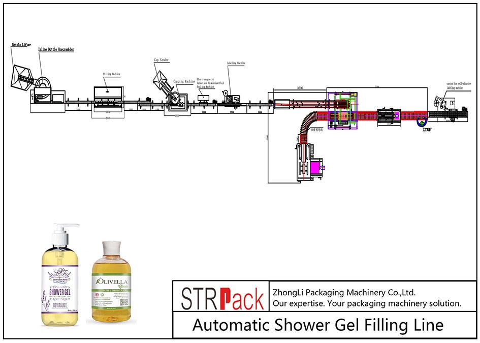 Автоматска линија за полнење гел за туширање