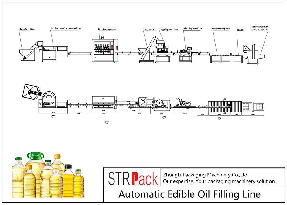 Автоматска линија за полнење масло за јадење