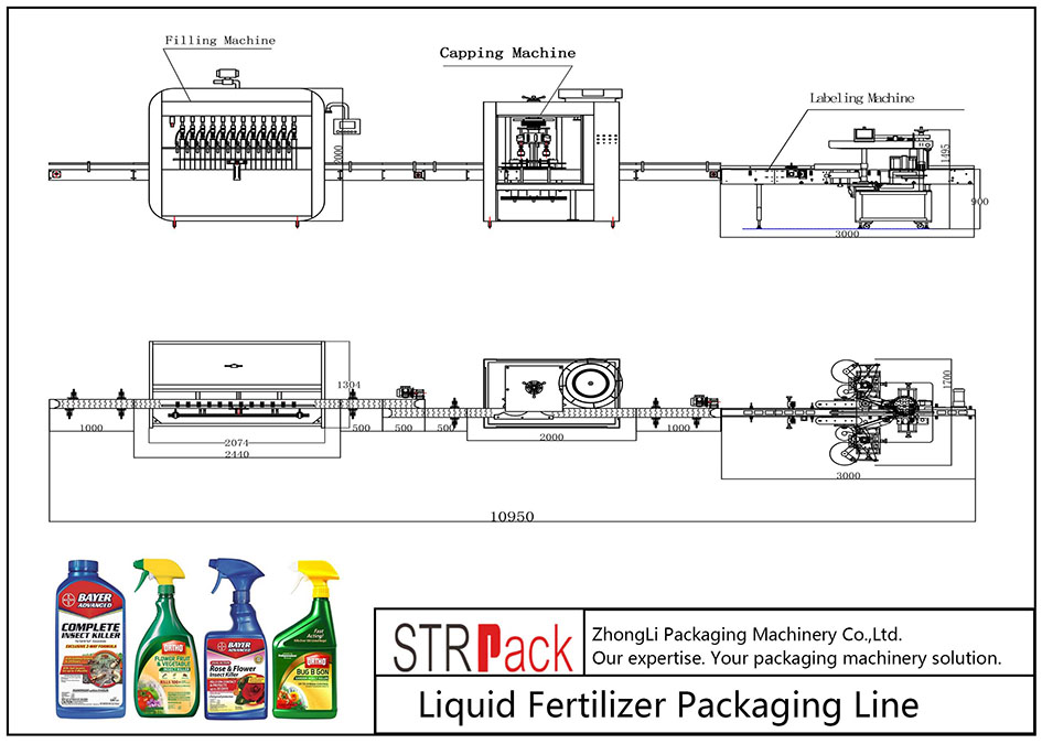 Автоматска линија за пакување на ѓубриво со течни ѓубрива