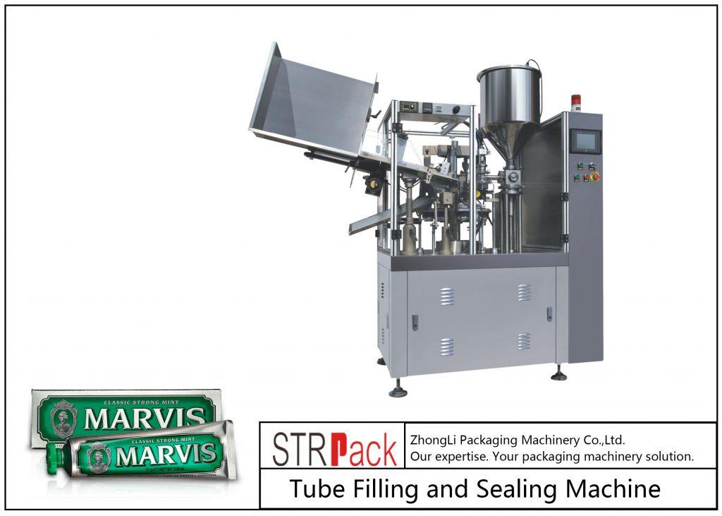 SFS-60 машина за полнење и запечатување на пластични цевки