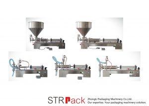 Полу-автоматска машина за полнење на течности клипот