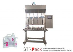 Полу-автоматска машина за полнење течност со временска тежина